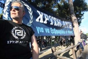 "A member of the ""Golden Dawn"" far-right"