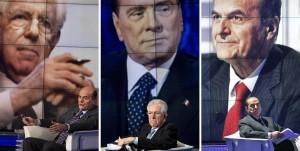 Monti-Bersani-Berlusconi